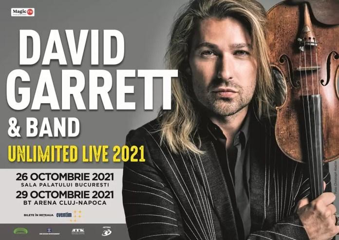 David Garrett 2021_Bucuresti_Cluj-Napoca afiș