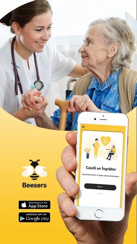 Beesers, prima aplicație mobilă pentru îngrijiri medicale în siguranță la domiciliu