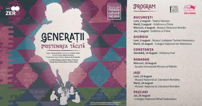 Generații - Moștenirea tăcută_spectacole_program