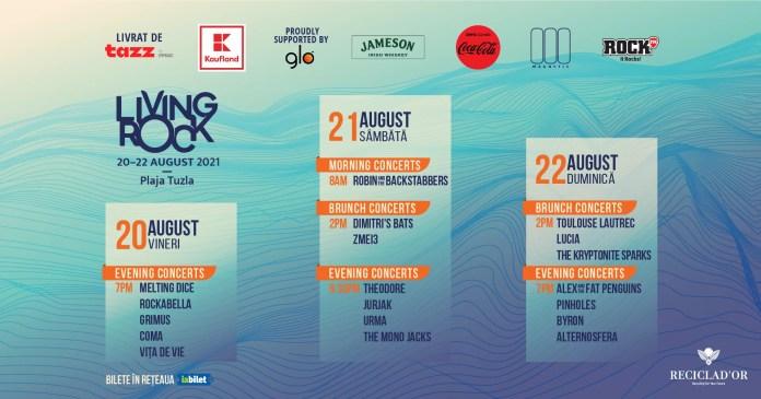 Anunt cu privire la programul festivalului de rock alternativ de la mare