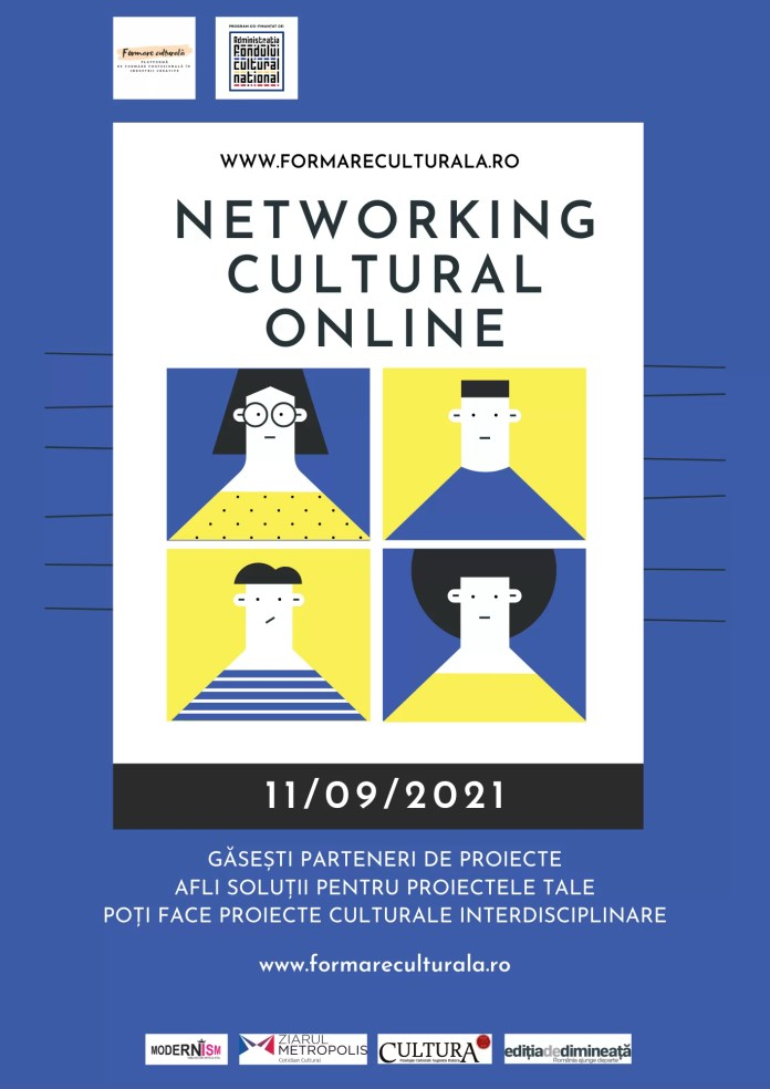 Întâlniri profesionale în cultură, advocacy cultural și facilitare comunitară, totul online, prin platforma Formare Culturală
