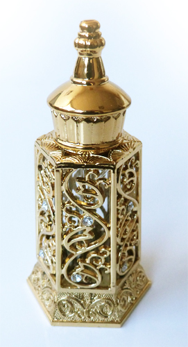 parfum musc d or aladin en bouteille doree 15 ml mixte