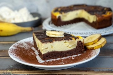 New York Chocolate-Banana Cheesecake