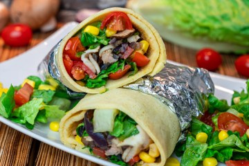 High Protein Chicken Wraps | Schnelles Low Carb To-Go Mittagessen