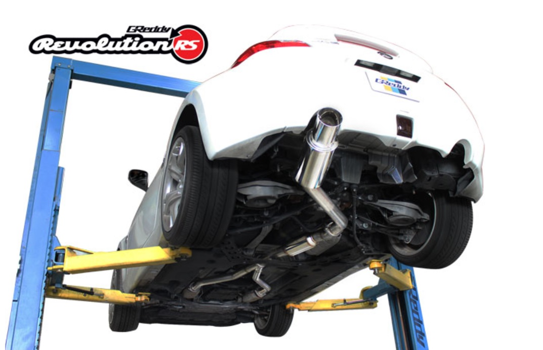 greddy revolution rs stainless steel single exit exhaust nissan 370z z34