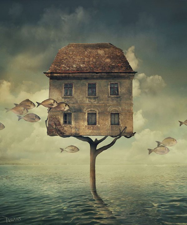 Surreal Art Houses in Trees