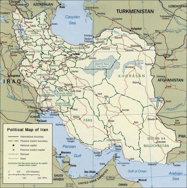 Iran Chamber Society Political Map of Iran