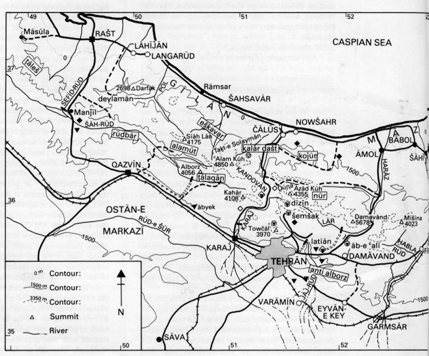 ALBORZ iii. Geography