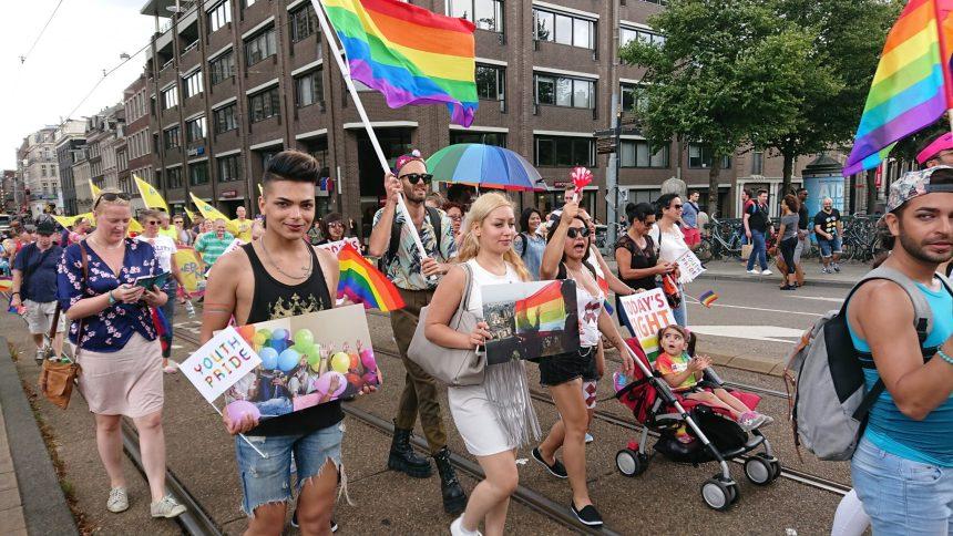 روز افتخار ایران در راهپیمایی افتخار آمستردام ۱۳۹۷