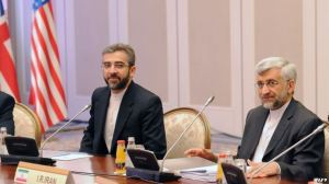 Iran's representatives led by their top nuclear negotiator Saeed Jalili (R) and Ali Bagheri (L) take part in talks with top officials from the United States, Britain, France, EU, China, Germany and Russia on Iran's nuclear program in the Kazakh city of Almaty, April 5, 2013. (Photo Credit: Reuters.)