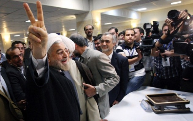 "Hassan Rohani: I've very motivated for candidacy. You should ask Hashemi Whether he will support me or not. I'm not aware of Hashemi's candidacy in the last days of the registration. My fans have chosen ""Purple"" as the color for the election campaign."