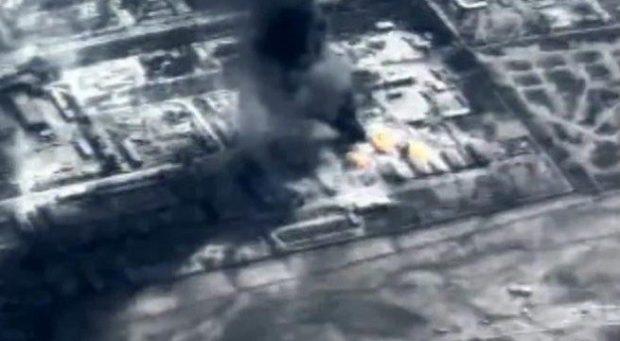 مشهد-من-فيديو-قصف-سلاح-الجو-لتنظيم-داعش-ارشيفية-655x360