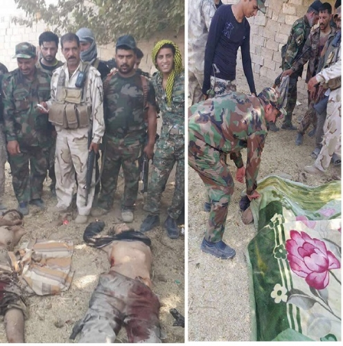بالصور..الحشد الشعبي يقتل ثلاثة انتحاريين حاولوا التسلل الى بغداد