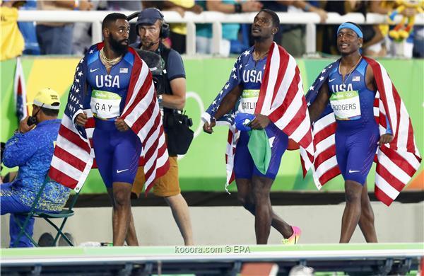 استبعاد الفريق الأمريكي مجددًا في سباق التتابع ريو 2016م