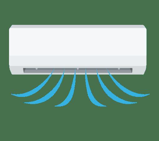 冷房運転中のエアコンのイラスト   高品質の無料イラスト素材集のイラサポフリー