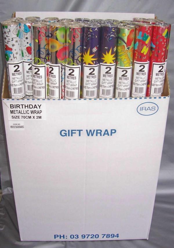 IRAS Australia - Metallic Foil Gift Wrapping