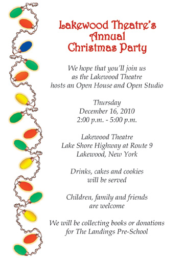 christmas party invitation letter sample