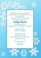 Winter Theme Party Invitations