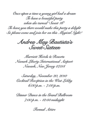 Sweet 16 Invitations Six Party