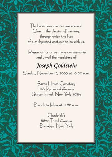 Unveiling Of Tombstone Invitation Cards Wording Invitationjpg Com