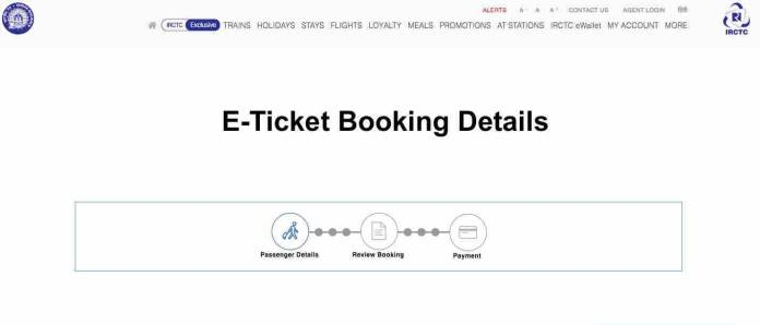 E - Ticket Booking Details