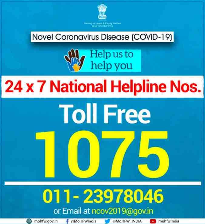 Helpline-Numbers Covid 19