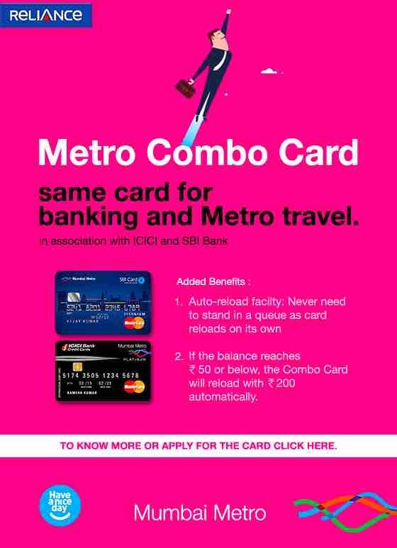 Combo Card ~ Mumbai Metro