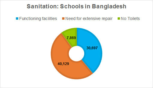 BRAC WASH School Sanitation graph