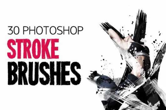30 Photoshop Stroke Brushes