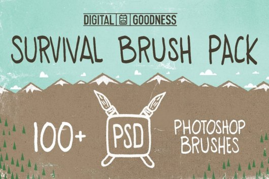 PSD Survival Brush Pack