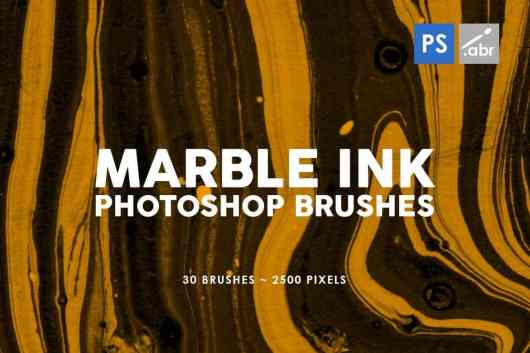 30 Marble Ink Photoshop Brushes