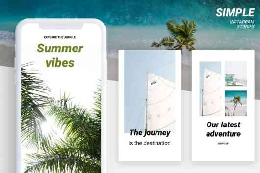 Simple Instagram Story Templates