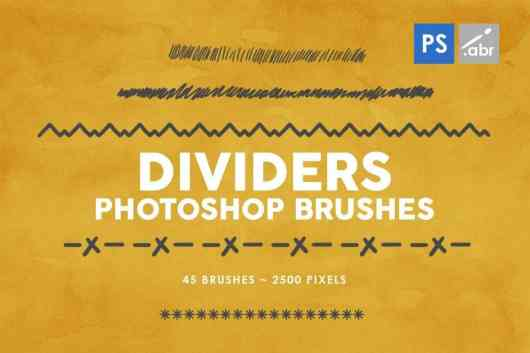 45 Dividers Photoshop Stamp Brushes