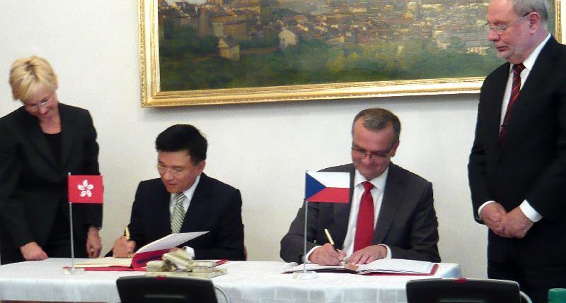 香港與捷克共和國簽訂稅務協定(圖)