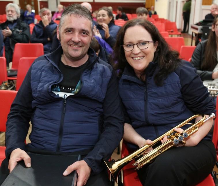 John J Murphy and Anne Marie O' Keeffe of Kiskeam Brass Band
