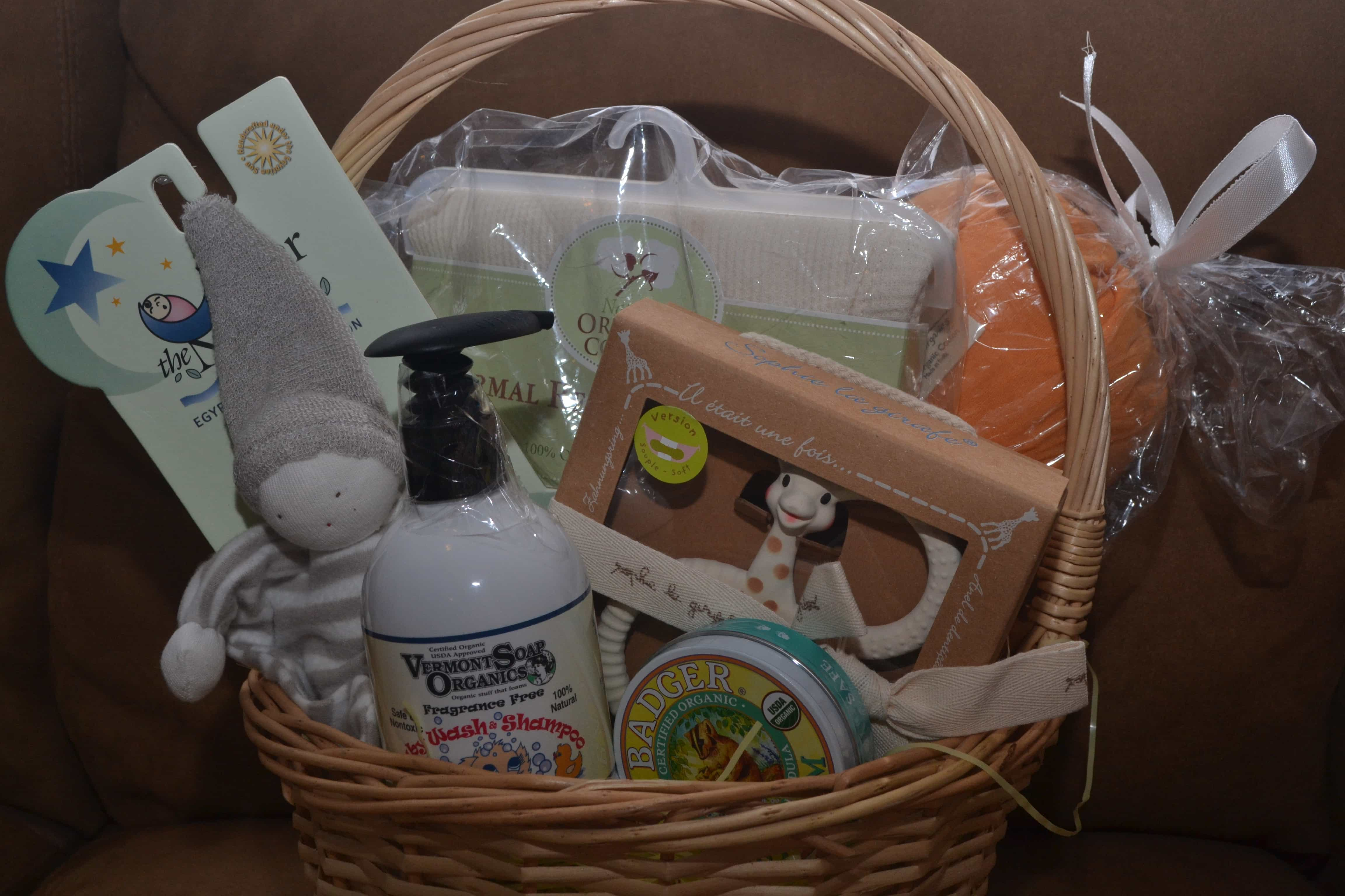 Newborn Baby Organic Gift Basket Under $75 | I Read Labels For You