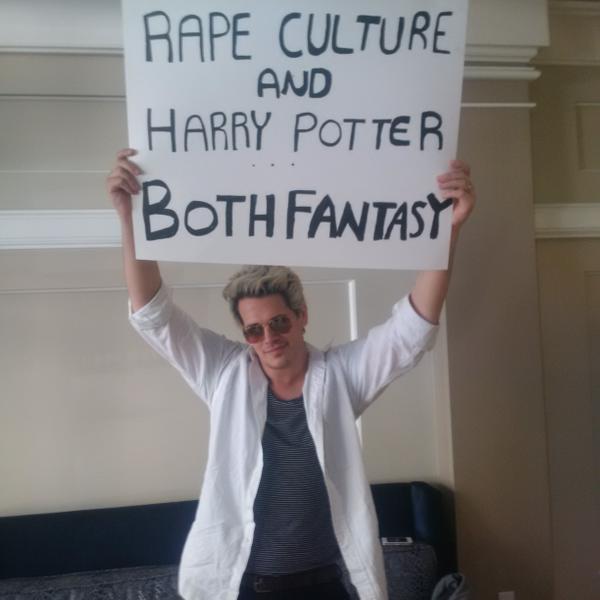 Breitbart columnist Milo wotshisname dismisses the idea of a 'rape culture' in America (unless it involves immigrants)