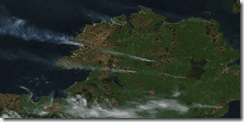 NASA Satellite image of the gorse fires burning in Ireland's North West