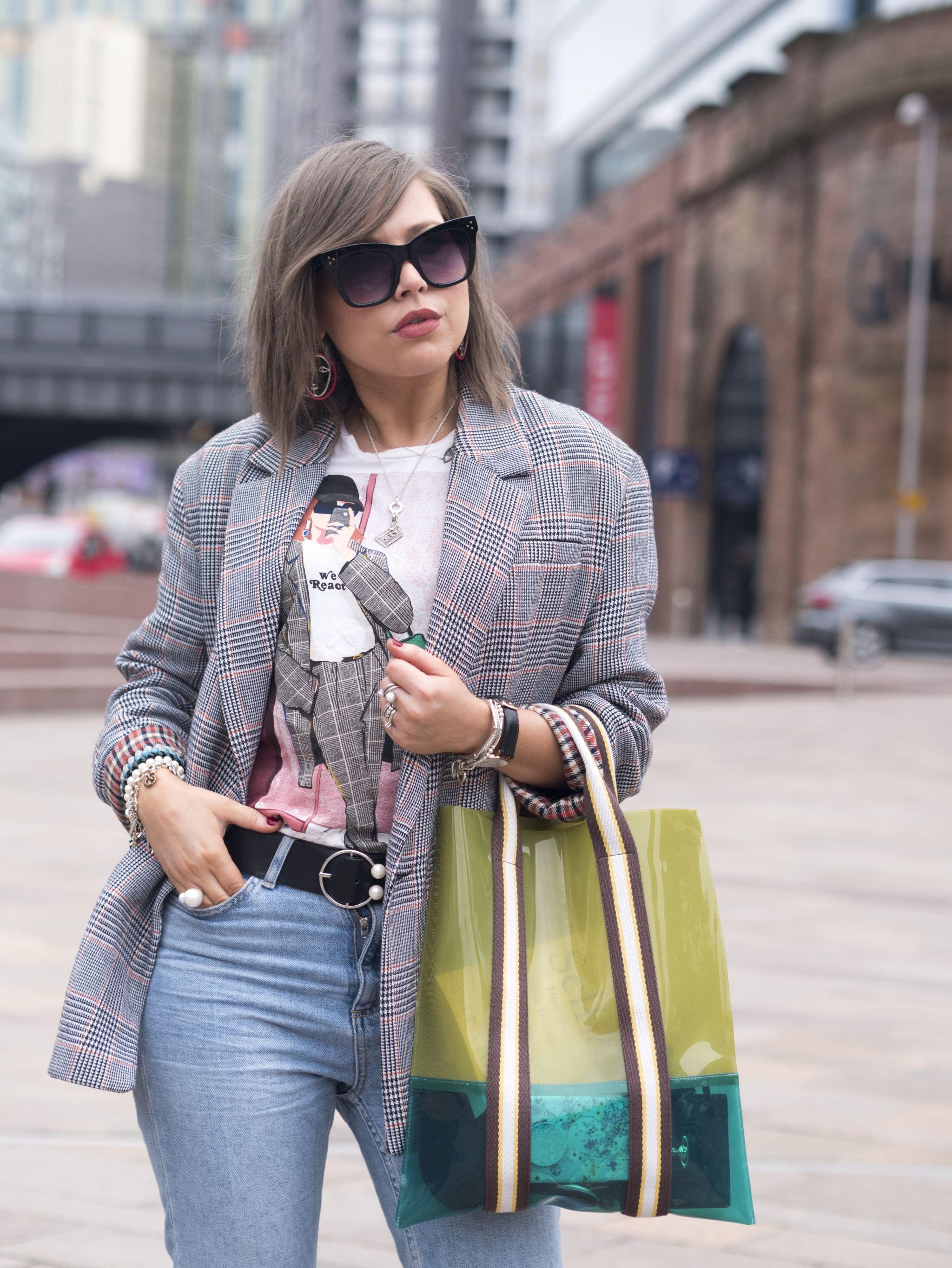 manchester fashion blogger , fashion blogger, celine sunglasses, oversized zara blazer, dress scandinavian, pernille teisbaek ,manchester