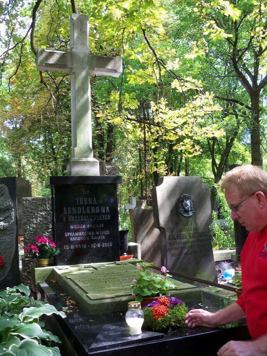 Norm Conard visits Irena's gravesite in August of 2011. Directions to the 'hard to find' gravesite will soon be listed at another location on this website.