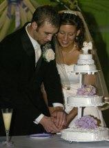 June 17, 2006 - Dallas and Jessica cutting the cake.