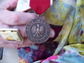 The Bene Merito award from the Polish government to Renata Zajdman in August of 2011