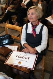 "Marzanna Pogorzelska, awarded in 2010 for ""Repairing the World"""