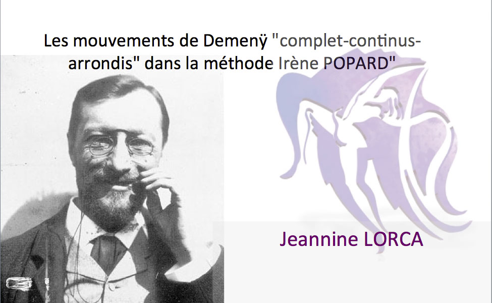 Les mouvements de Demenÿ dans la méthode Irène POPARD
