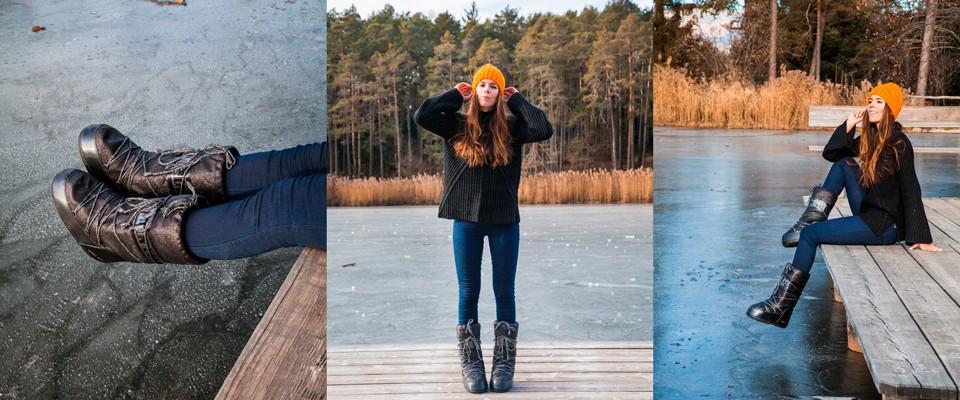 Come vestirsi in montagna in inverno MoonBoots con glitter