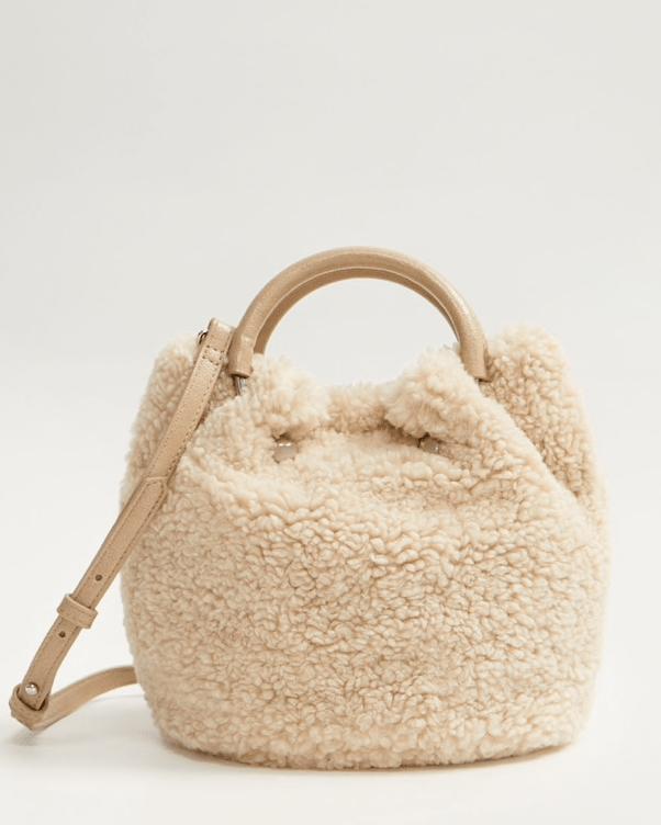 borsa fluffy bianca