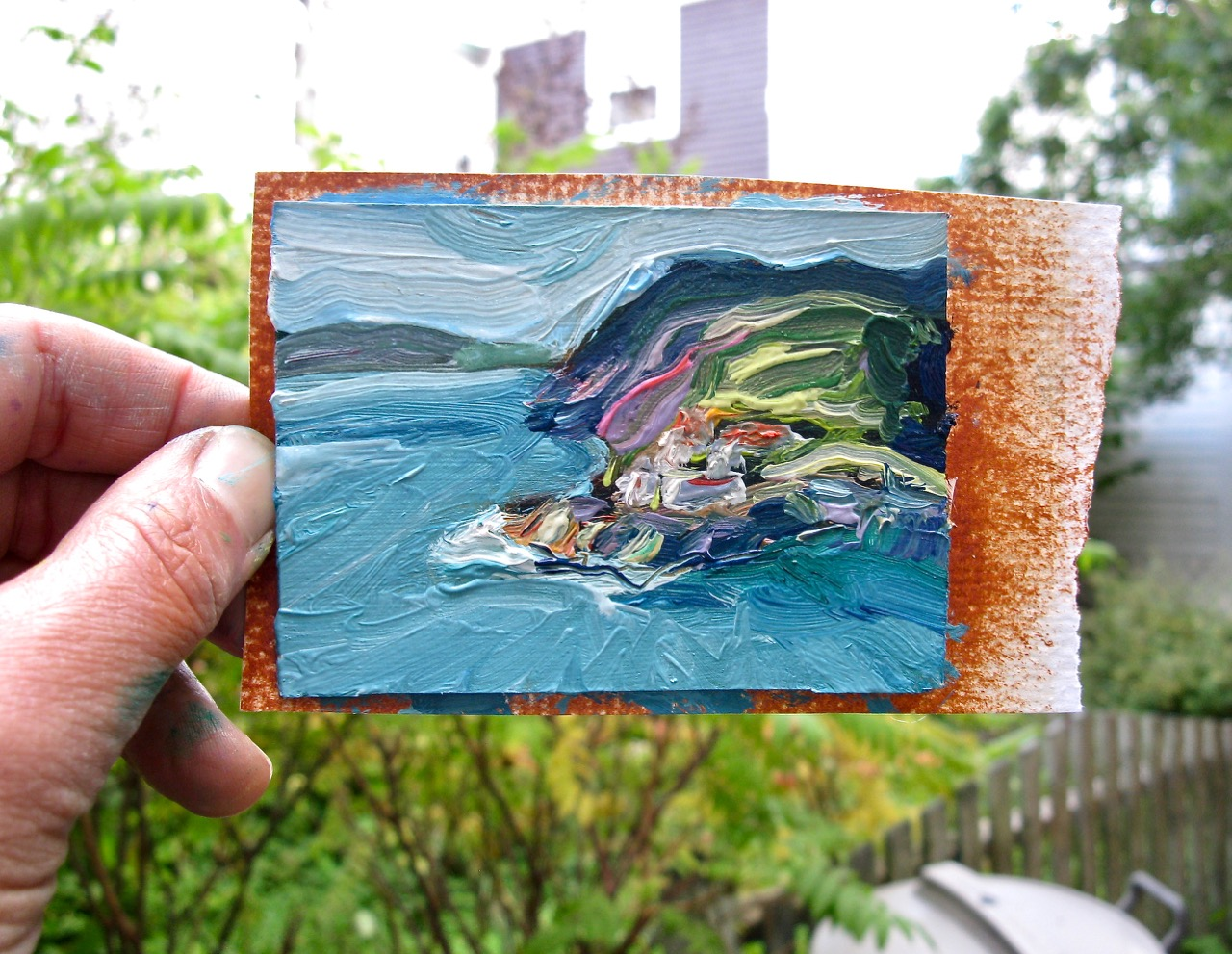 mini painting of Fort Amherst
