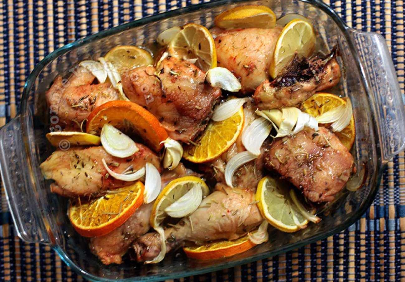Pollo e agrumi al forno