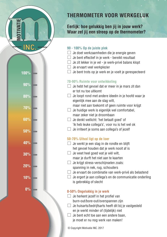 Thermometer werkgeluk intrinsieke motivatie