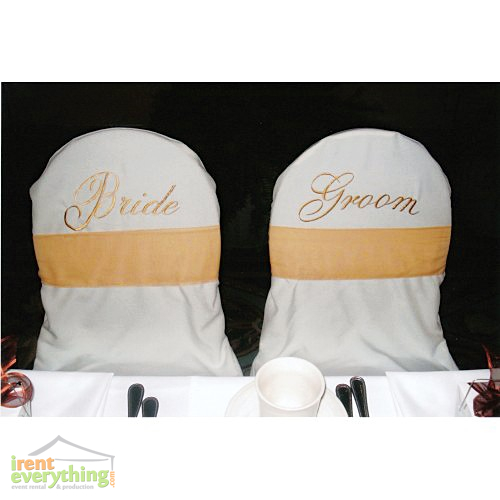 stool chair rentals for high desk covers (banquet) - bride & groom white irent everything